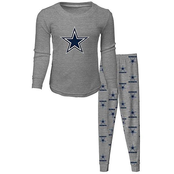 Dallas Cowboys Kids Long Sleeve T-Shirt and Pant Sleep Pajama Set