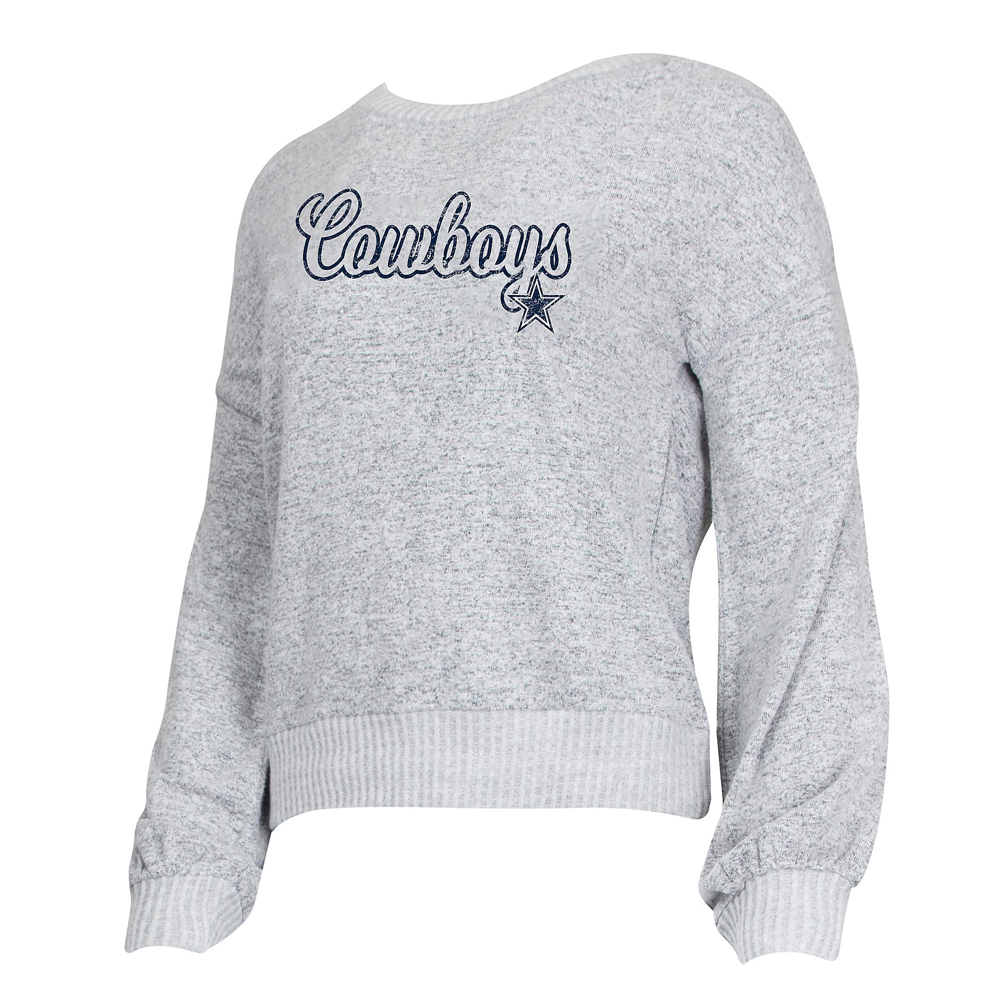 Dallas Cowboys Womens Venture Long Sleeve Knit Crew Sweater