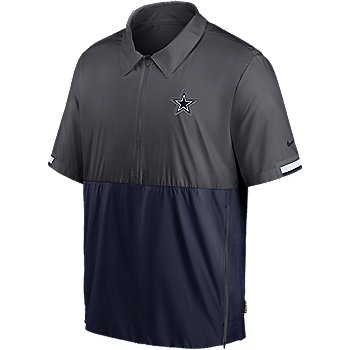 Dallas Cowboys Nike Mens Team Logo Lightweight Coach Short Sleeve Pullover