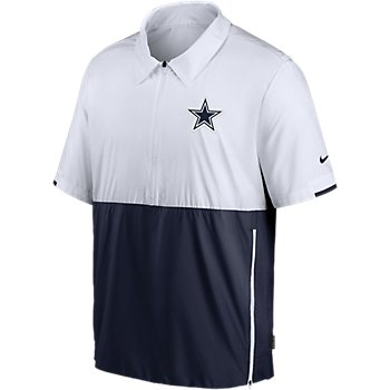 Dallas Cowboys Nike Mens Team Logo Lightweight Coach Short Sleeve Pullover