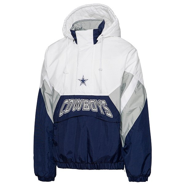 Dallas Cowboys Starter Mens The Line Half-Zip Jacket