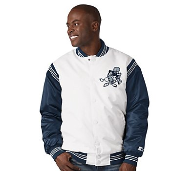 Dallas Cowboys Starter Mens The Renegade Star Varsity Throwback Jacket