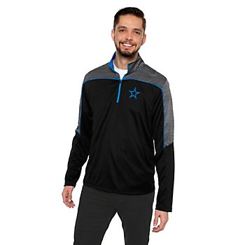 Dallas Cowboys Mens Nimbus Quarter-Zip Fleece Pullover