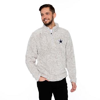 Dallas Cowboys Mens Capella Quarter-Zip Sherpa Pullover