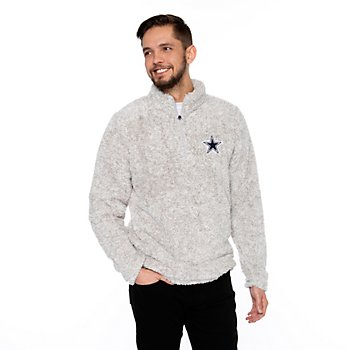 Dallas Cowboys Mens Capella Quarter-Zip Sherpa Pullover