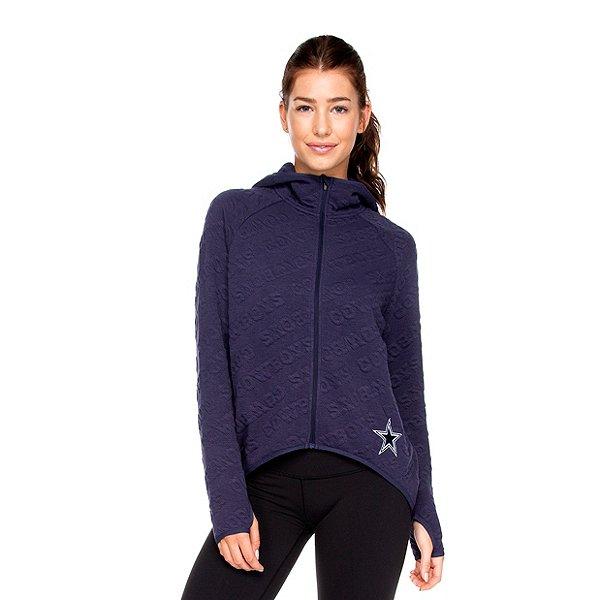 Dallas Cowboys Womens Akiane Cape Full Zip Funnel Hood Jacket