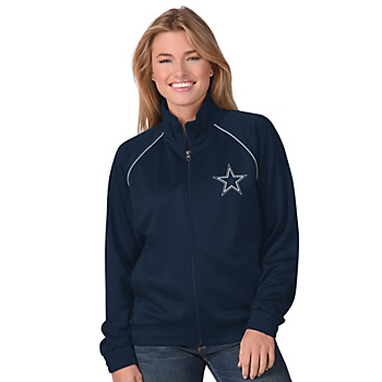 Dallas Cowboys Womens Power Play Track Jacket