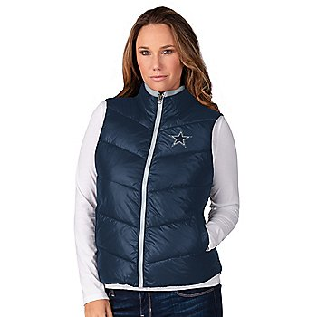 Dallas Cowboys Womens All Division Faux Down Vest