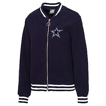 Dallas Cowboys Womens Sonja Sherpa Bomber Jacket