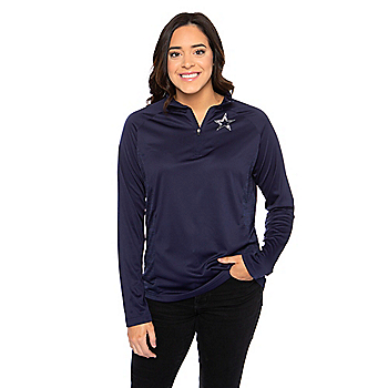 Dallas Cowboys Womens Sasha Quarter-Zip Pullover