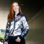 Dallas Cowboys Womens Sequin Bomber Jacket