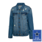 Dallas Cowboys Team LJ Womens Helmet Screen Printed Denim Jacket