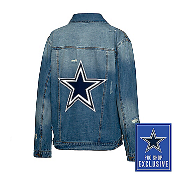 Dallas Cowboys Team LJ Womens Star Screen Printed Denim Jacket