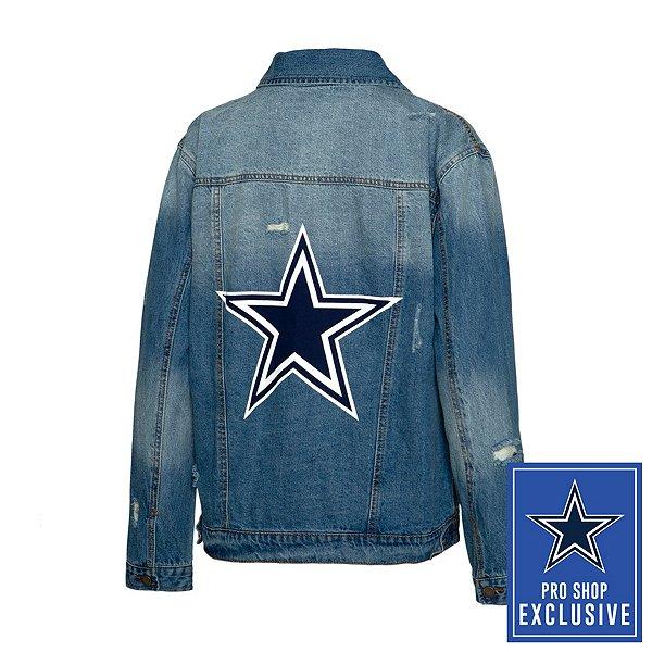 Dallas Cowboys Team LJ Womens Star Screen Printed Denim Jacket