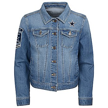 Dallas Cowboys Girls Smells Like Team Victory Denim Jacket