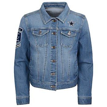 Dallas Cowboys Girls Smells Like Team Victory Denim Jacket