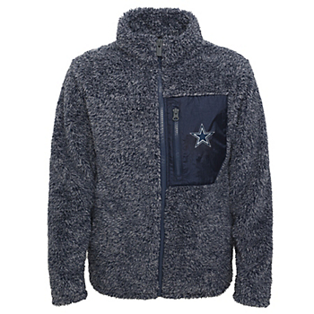 Dallas Cowboys Girls Teddy Full Zip Fleece Jacket