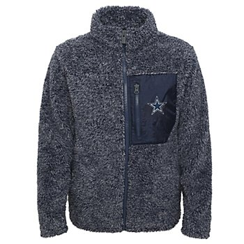 Dallas Cowboys Girls Teddy Full Zip Fleece Jacket