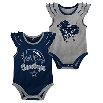 Dallas Cowboys Newborn Touchdown 2-Pack Creeper Set
