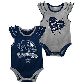 Dallas Cowboys Infant Touchdown 2-Pack Creeper Set