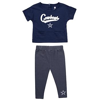 Dallas Cowboys Toddler Diamond T-Shirt & Legging Set