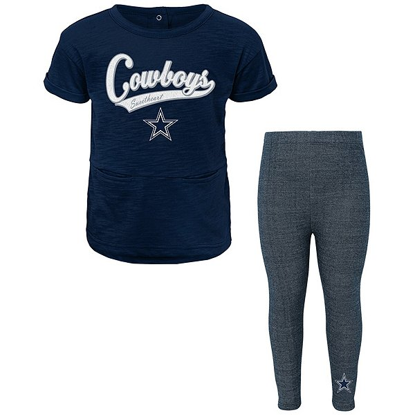 Dallas Cowboys Girls Diamond T-Shirt & Legging Set