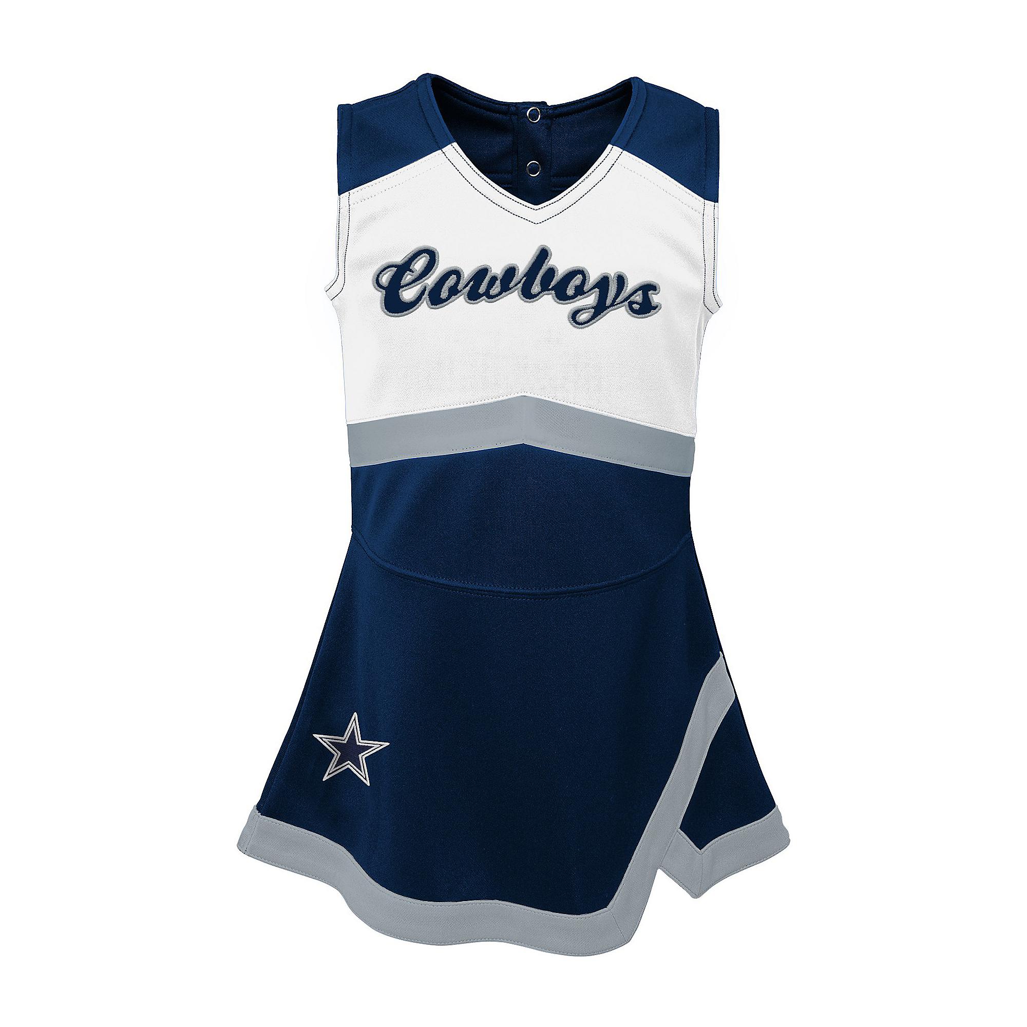 Dallas Cowboys Cheerleader Toddler Cheer Captain Jumper Dress