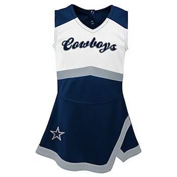 Dallas Cowboys Cheerleader Youth Girls Cheer Captain Jumper Dress