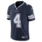 Dallas Cowboys Dak Prescott #4 Nike Navy Vapor Limited Jersey