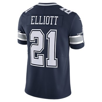 Dallas Cowboys Ezekiel Elliott #21 Nike Navy Vapor Limited Jersey