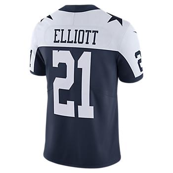 Dallas Cowboys Ezekiel Elliott #21 Nike Vapor Limited Throwback Jersey