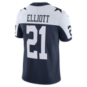 Dallas Cowboys Ezekiel Elliott #21 Nike Vapor Limited Throwback Jersey