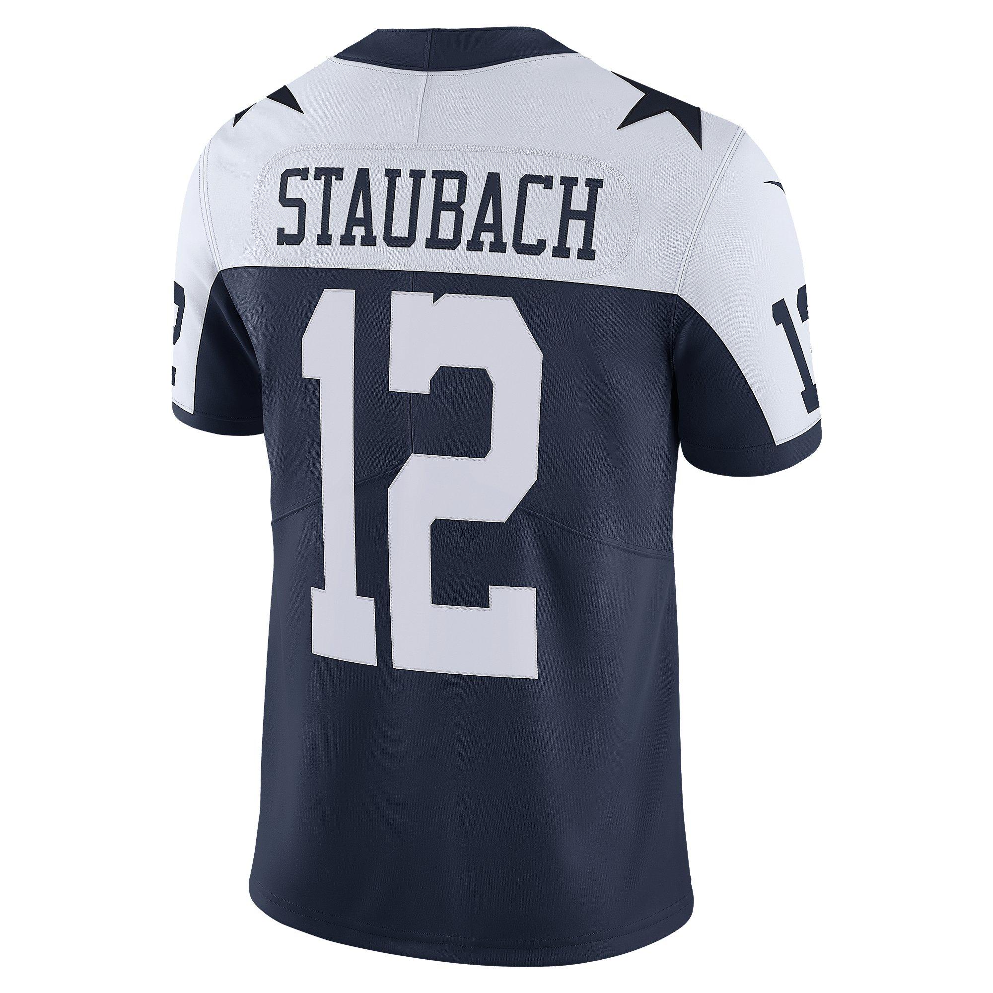 Dallas Cowboys Roger Staubach #12 Nike Vapor Throwback Limited ...