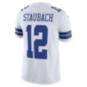 Dallas Cowboys Roger Staubach #12 Nike White Vapor Limited Jersey