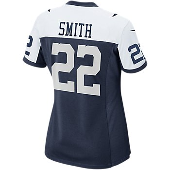 Dallas Cowboys Womens Legend Emmitt Smith #22 Nike Game Replica Throwback Jersey