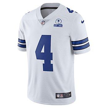 Dallas Cowboys Dak Prescott #4 Nike 1960 White Vapor Limited Jersey