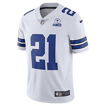 Dallas Cowboys Ezekiel Elliott #21 Nike 1960 White Vapor Limited Jersey