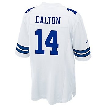 Dallas Cowboys Andy Dalton #14 Nike White Game Replica Jersey