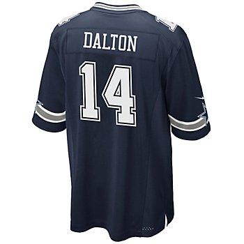 Dallas Cowboys Andy Dalton #14 Nike Navy Game Replica Jersey