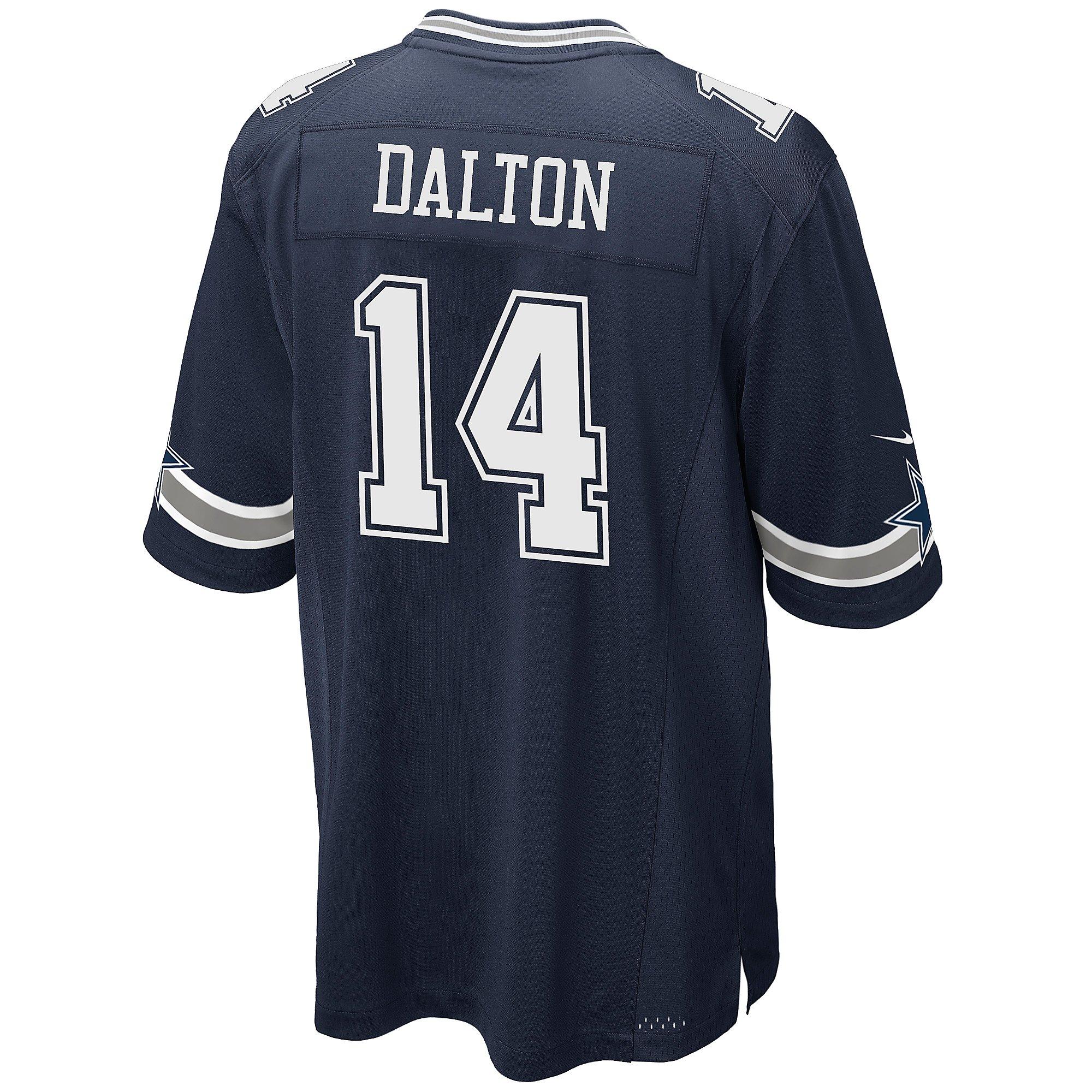Dallas Cowboys Andy Dalton #14 Nike Navy Game Replica Jersey ...