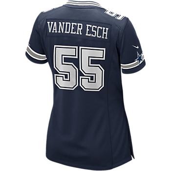 Dallas Cowboys Womens Leighton Vander Esch #55 Nike Navy Game Replica Jersey