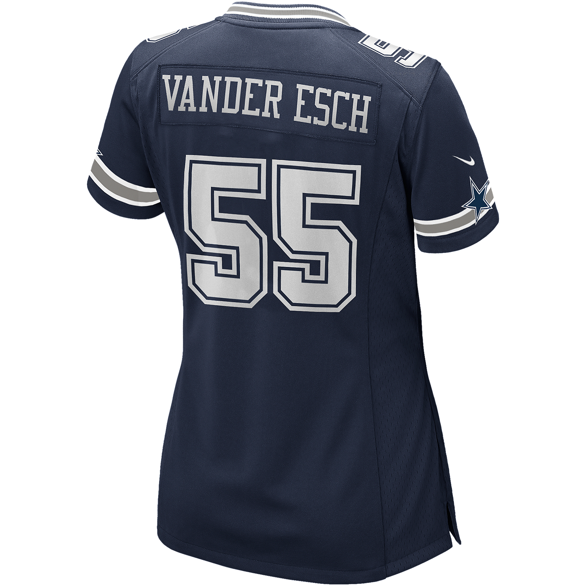 Dallas Cowboys Womens Leighton Vander Esch #55 Nike Navy Game Replica Jersey