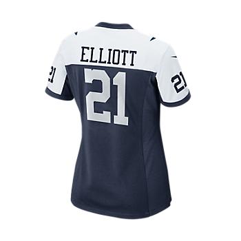 Dallas Cowboys Womens Ezekiel Elliott #21 Nike Game Replica Throwback Jersey