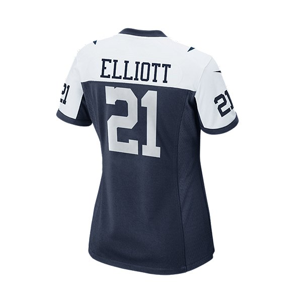 Dallas Cowboys Womens Ezekiel Elliott #21 Nike Game Replica Throwback Jersey