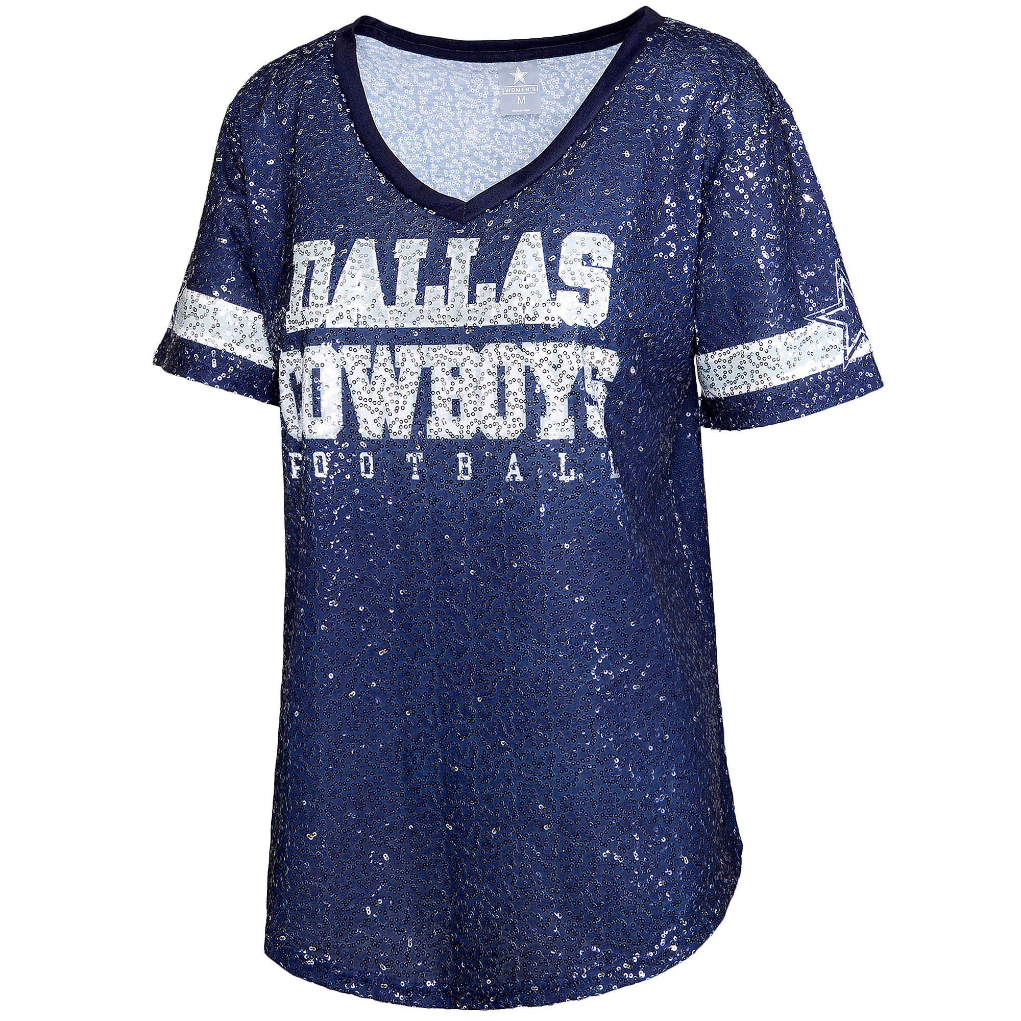 Dallas Cowboys Womens Ensley Sequin Jersey