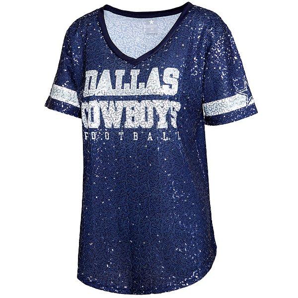 Dallas Cowboys Womens Ensley Sequin Jersey