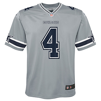 Dallas Cowboys Youth Dak Prescott #4 Nike Legend Inverted Game Jersey