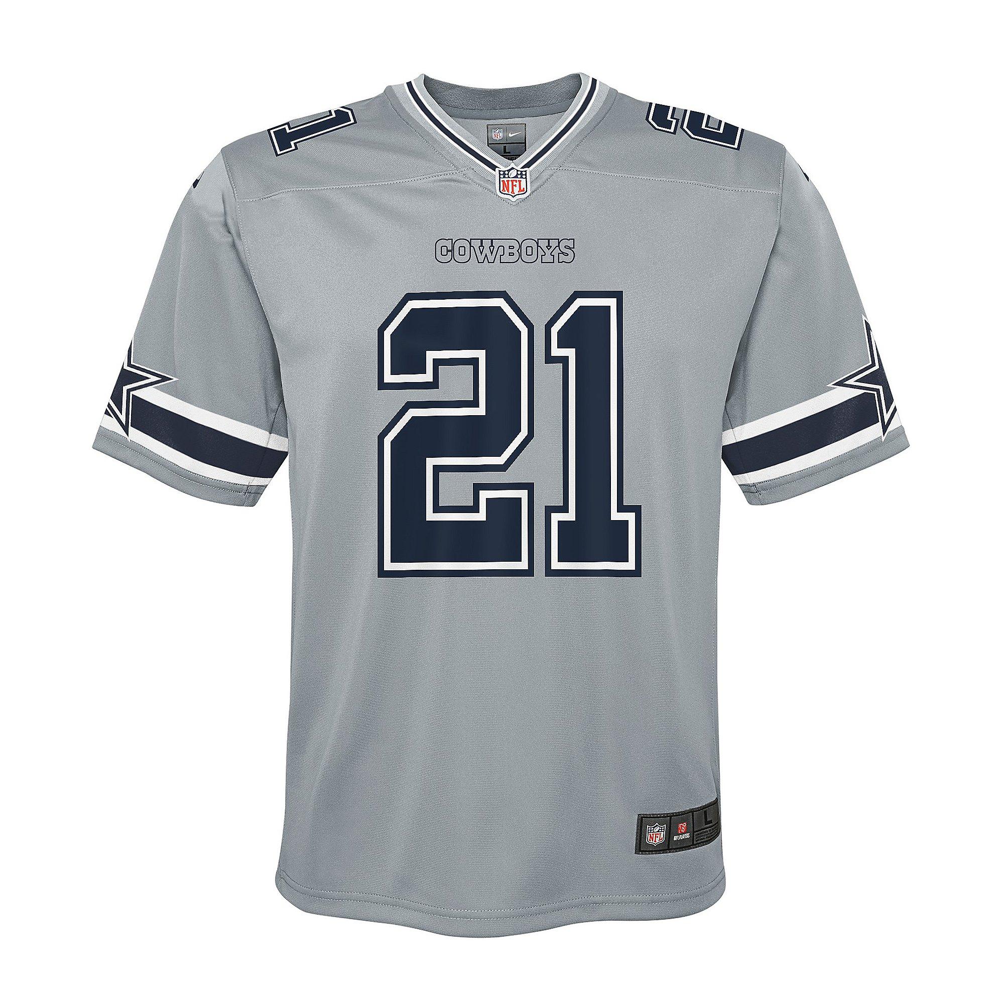 Dallas Cowboys Youth Ezekiel Elliott #21 Nike Legend Inverted Game ...