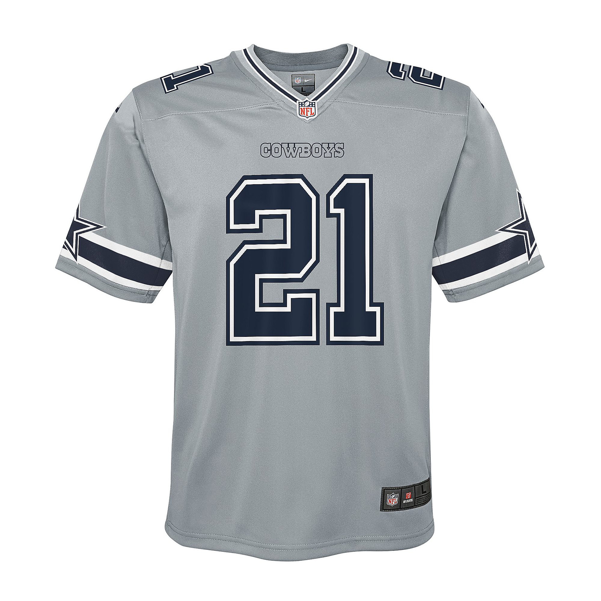 Dallas Cowboys Youth Ezekiel Elliott #21 Nike Legend Inverted Game Jersey