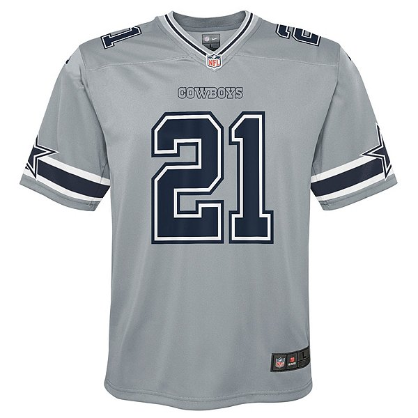 Dallas Cowboys Youth Ezekiel Elliott #21 Nike Legend Inverted Game Jersey